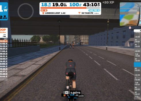 London Zwift-Intervalle Laufen